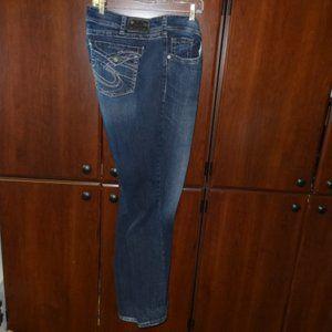 Silver Jean Co Suki Surplus Blue Jeans
